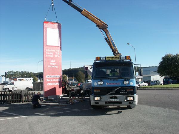 Du tittar på bilder från: Skylt, Bridgestone - Göteborg